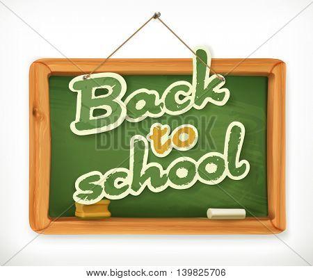 Back to school. Chalkboard vector icon