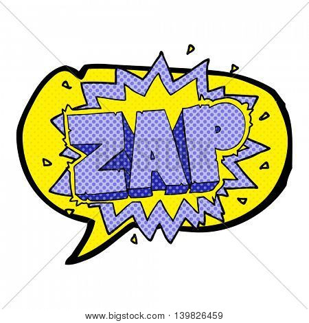 happy freehand comic book speech bubble cartoon zap explosion sign