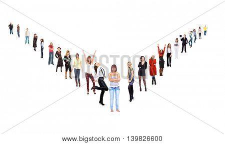 People Order Corporate Teamwork