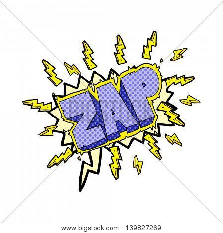 freehand drawn comic book speech bubble cartoon zap symbol