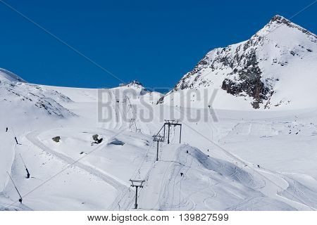 Alps in Matterhorn Switzerland is famous place and for skier who like extreme sport