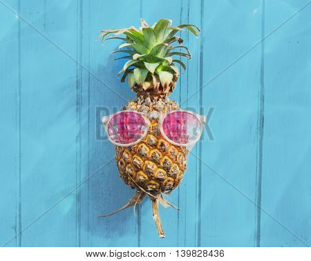 Pineapple Sunglasses Tropical Fruit Refreshing Concept