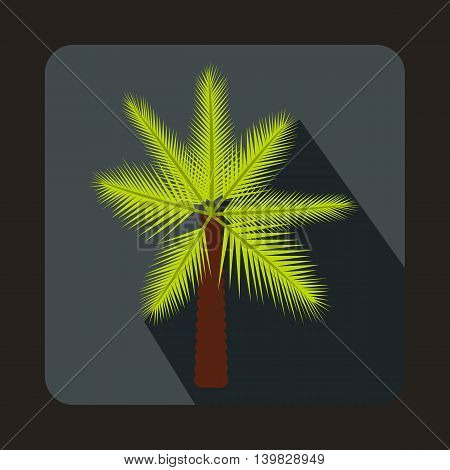 Palm icon in flat style on a gray background