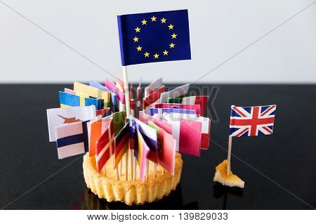 Flags Of European Union In A Cake