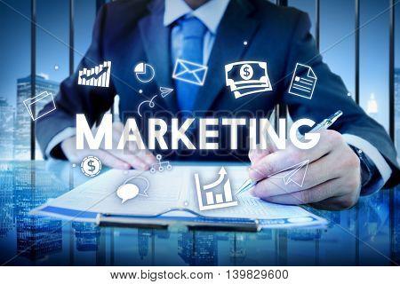 Marketing Business Avertiseing Commercial Branding Concept