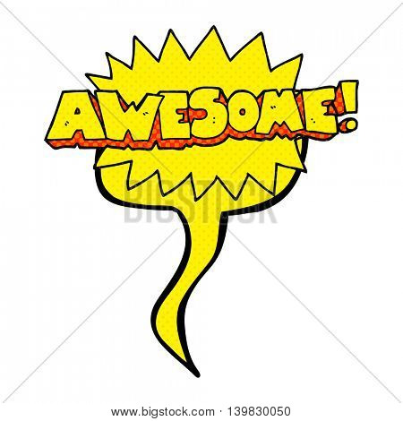 awesome freehand drawn comic book speech bubble cartoon shout