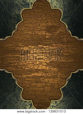 Wooden Texture With Grunge Frame. Template For Design. Copy Space For Ad Brochure Or Announcement In