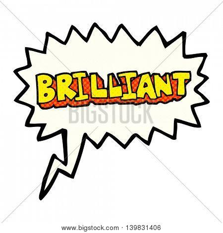 brilliant freehand drawn comic book speech bubble cartoon word