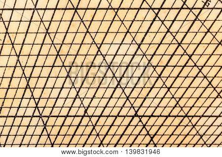 Old Geometric Table Grid