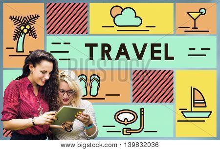 Travel Vacation Sunshine Relaxation Holiday Concept