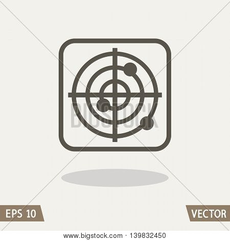 Target crosshair icon symbol isolated on light background. Vector illustration for web, packing design and commercial use.