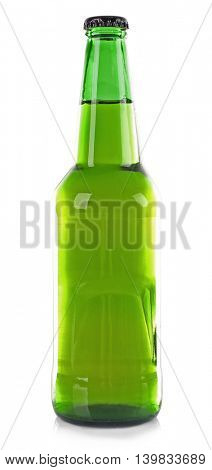 Bottle of fresh beer isolated on white