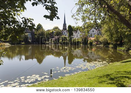 Residential district Kralingen in Rotterdam in the Netherlands