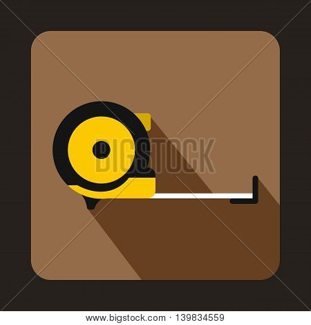 Roulette construction icon in flat style on a coffee background