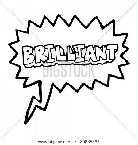 brilliant freehand drawn speech bubble cartoon word