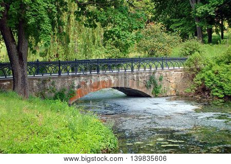 Park Bridge At Spring