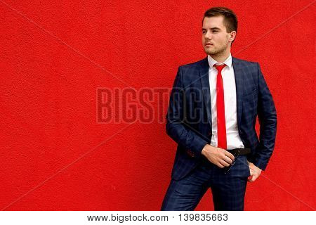 young guy a businessman in suit and tie