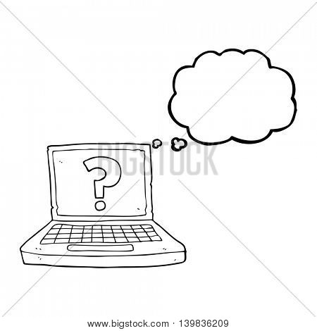 freehand drawn thought bubble cartoon internet search