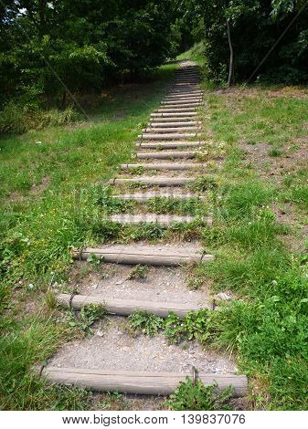 Simple Outdoor Stairway In A Park