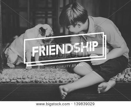 Human Best Friends Dog Friendship Concept
