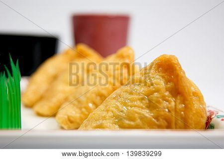 Traditional Inari of home cooking sushi of Japan