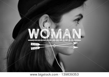 Woman Believe Dream Individuality Female Concept