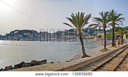Port De Soller - Promenade At Harbor, Majorca