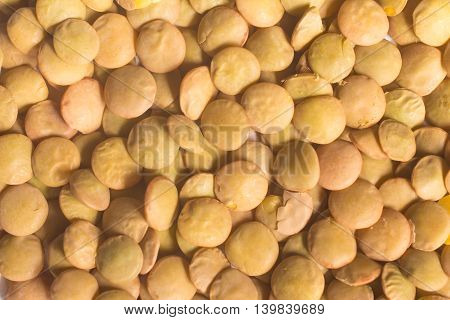 Close-up  on Dried Raw Lentils in white background