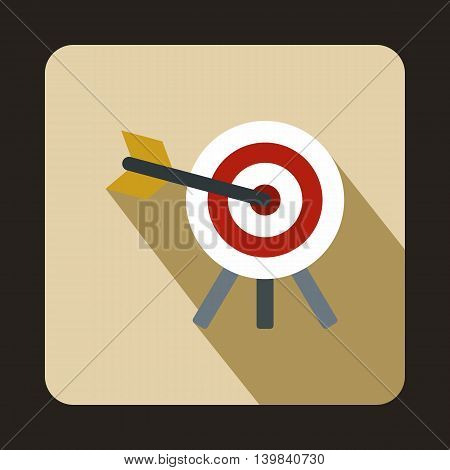 Target icon in flat style on a beige background