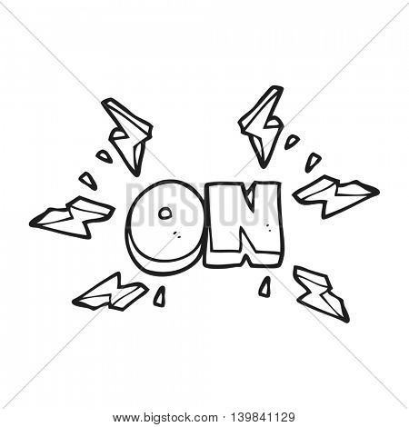 freehand drawn black and white cartoon on symbol