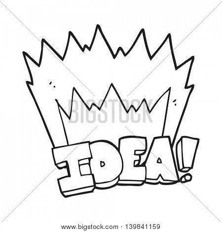 freehand drawn black and white cartoon idea symbol