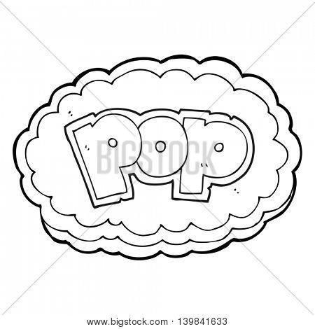 freehand drawn black and white cartoon POP symbol