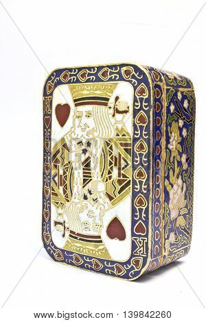King Of Hearts Card On Ornate Trinket Box