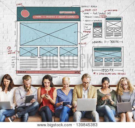 Lay Out Design Internet Organization Blogging Concept