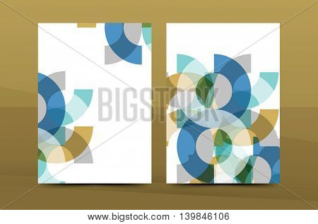 Geometric mosaic design, a4 size business corporate correspondence letter cover. Leaflet, annual report identity template