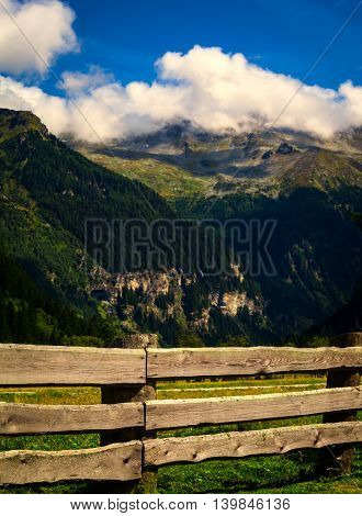 mountains in the national park Hohe Tauern in Alps in Austria. Backgrounds