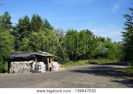 Abondoned barracks in Eastern Ukraine near Schastia town in Luhans'ka oblast. 12.07.2016