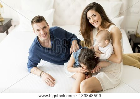 Young Family In The Room