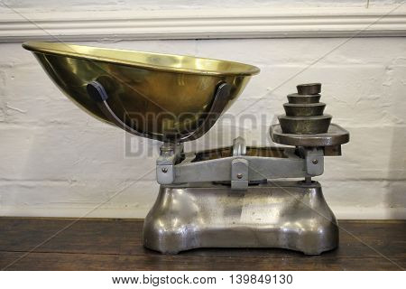 Old Fashioned Weighing Scales and Differing Weights