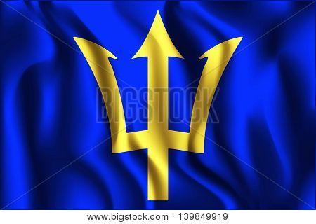 Barbados. Rectangular Shape Icon