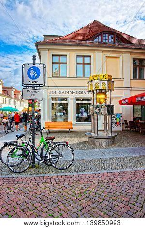 Brandenburger Strasse As The Pedestrian Zone In Potsdam