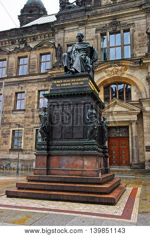 Frederick Augustus Of Saxony Near The Court Of Appeal Dresden