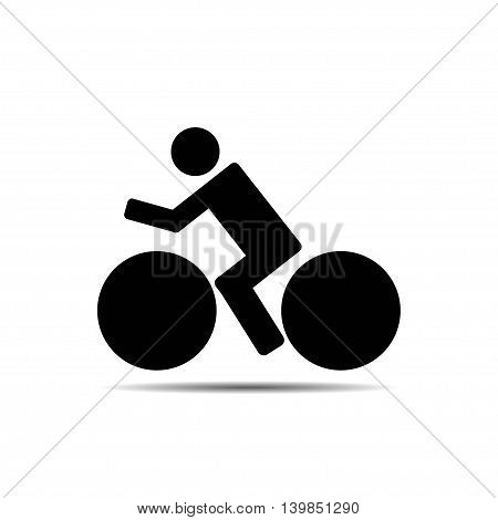 vector of bicycle icon on white background