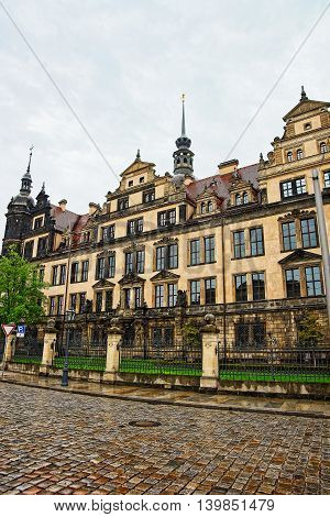 New Green Vault Historic Museum In Dresden In Germany