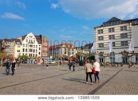 Old City Center Of Dusseldorf In Germany