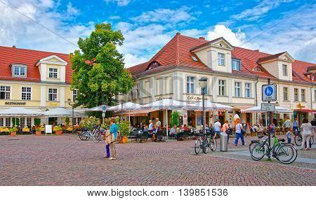 Pedestrian Zone In Brandenburger Strasse In Potsdam