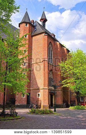 Saint Lambertus Basilica In The Old City Center In Dusseldorf