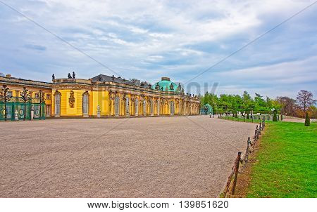 Sanssouci Summer Palace And Terrace In Sanssouci Park In Potsdam