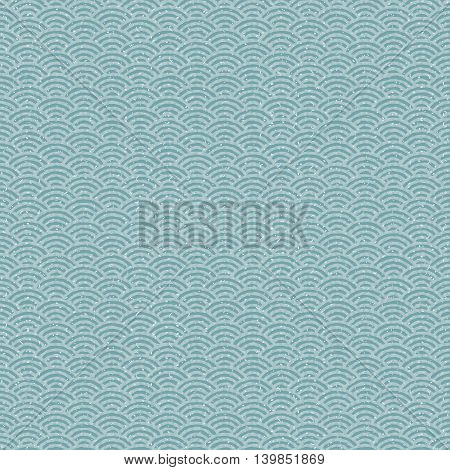 Blue and gray Japanese style wave pattern. Seamless background