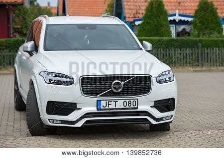 NIDA, LITHUANIA - JULY 24, 2016: Volvo XC90 Crossover. The Volvo XC90 is a mid-size luxury crossover SUV manufactured and marketed by Volvo Cars since 2002 and now in its second generation.